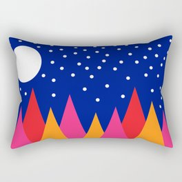 Moonlit Christmas Trees Rectangular Pillow