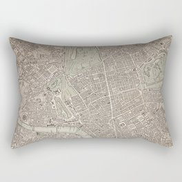 19th Century Topographical Vintage Antique Map London England Steampunk Rectangular Pillow
