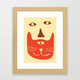 Beardy Cat Framed Art Print
