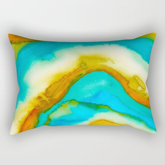 AGATE Inspired Watercolor Abstract 10 Rectangular Pillow