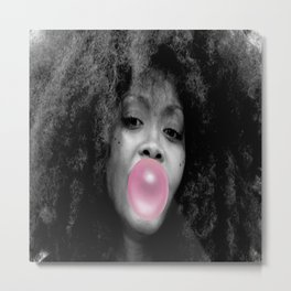 Erykah Badu Poster Bubblegum Metal Print