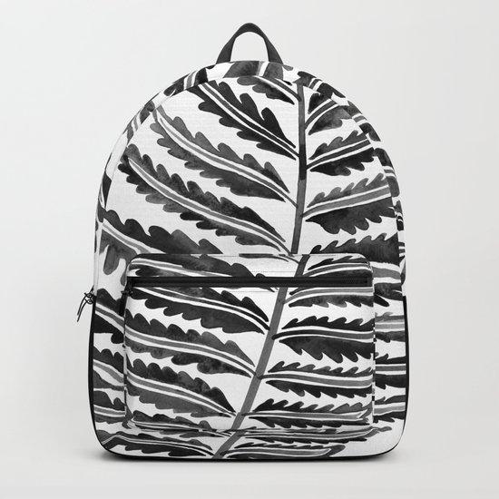 Fern Leaf – Black Palette Backpack