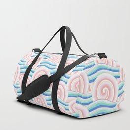 Pastel Auspicious Waves Duffle Bag