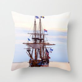 Kalmar Nykel Tall Sails Ship Photograph Print Throw Pillow
