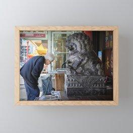 Chinatown Encounter Framed Mini Art Print
