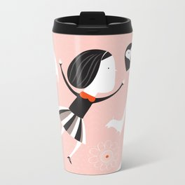 pink universe Metal Travel Mug