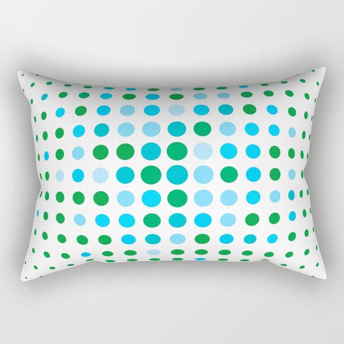 Green and blue optic Rectangular Pillow