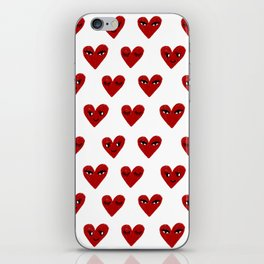 Heart love valentines day gifts hearts with faces cute valentine iPhone Skin