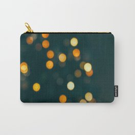 Bokeh Blurred Lights Shimmer Shiny Dots Spots Circles Out Of Focus Carry-All Pouch