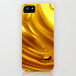 Amber Ripples 2 iPhone Case