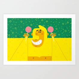 Gorilla Goodness II Art Print