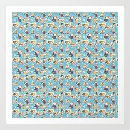 Chibilock Pattern Art Print