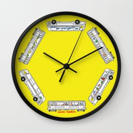"""""""Pop and Pals: Commuting""""  Wall Clock"""