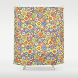 Millefiori-Happy Colors Shower Curtain