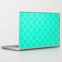 moroccan Laptop & iPad Skins featuring Moroccan Aqua by Jenna Mhairi