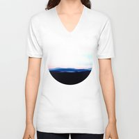 scotland V-neck T-shirts featuring Landscape, Scotland by seb mcnulty