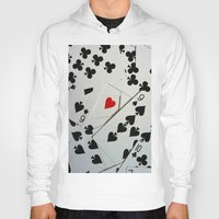 poker Hoodies featuring Poker by Jackie