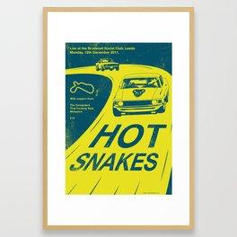 Hot Snakes Gig Poster Framed Art Print