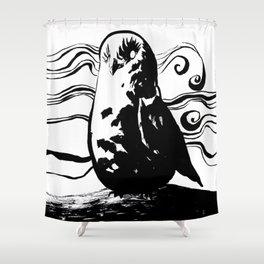 Mist Owl Shower Curtain