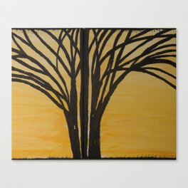 Tree of Life at Sunset Canvas Print