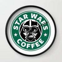 starwars Wall Clocks featuring StarWars Coffee by Unicity