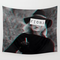 ahs Wall Tapestries featuring Fiona Goode & the Cig by NameGame