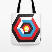 bauhaus Tote Bags featuring Bauhaus by liz williams