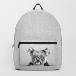 Koala - Black & White Backpack