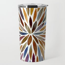 Watercolor Burst – Retro Palette Travel Mug