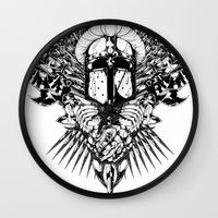medieval Wall Clocks featuring Medieval Crusader by Tshirt-Factory