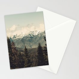 Snow capped Sierras Stationery Cards