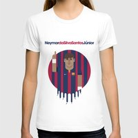 neymar T-shirts featuring Neymar Barcelona Illustration Print by Gary  Ralphs Illustrations