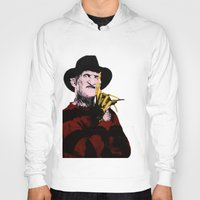 freddy krueger Hoodies featuring Horror Series Pop Art: Freddy Krueger by AlyBee