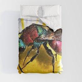 Multi-colored Cuckoo Wasp Portrait #1 Comforters