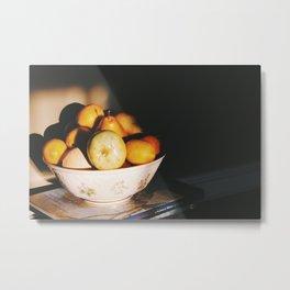 Quiet fruit bowl Metal Print