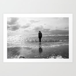 Troon Seafront Art Print