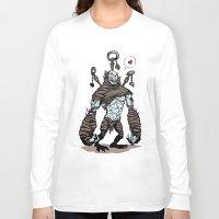 diablo Long Sleeve T-shirts featuring BFF - Diablo - Gargantuan by Peter Forsman