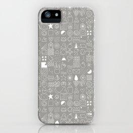 Cositas in White! iPhone Case
