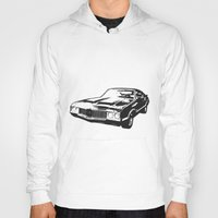 muscle Hoodies featuring Muscle Car by mothermary