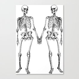 Two skeletons Canvas Print
