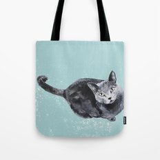 russian blue cat Tote Bag