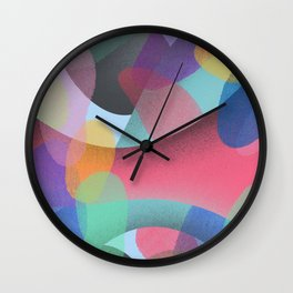 Abstract Colorful Textures Shapes #3 Wall Clock