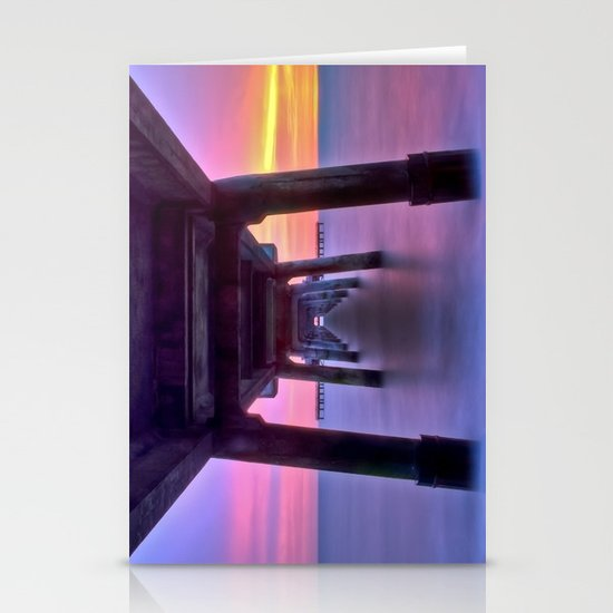 Deal Pier at Sunrise Stationery Cards