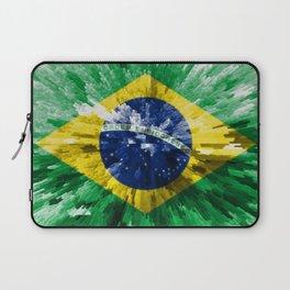 Extruded flag of Brazil Laptop Sleeve