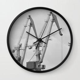 Giraffe crane Wall Clock