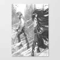 castlevania Canvas Prints featuring castlevania by Oxxygene