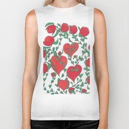Hearts Bloom Biker Tank