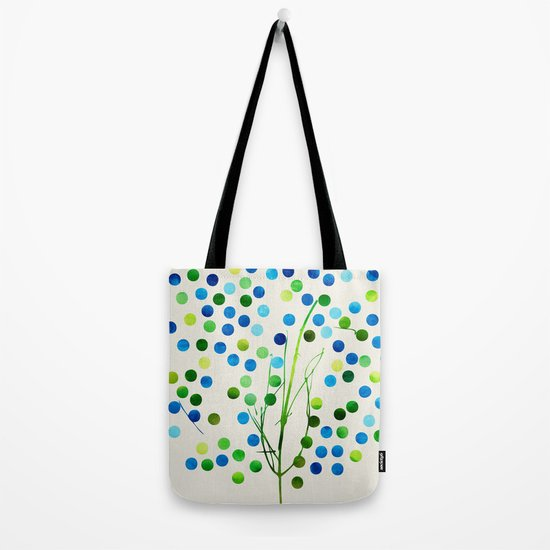 Tree of Life_Aqua by Jacqueline and Garima Tote Bag