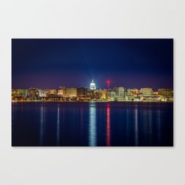 Madison at Night Canvas Print
