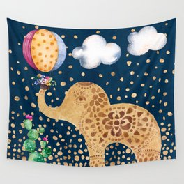 Elephant Play Wall Tapestry